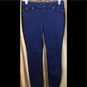 Two by Vince Camuto Navy/Black Skinny Jeans